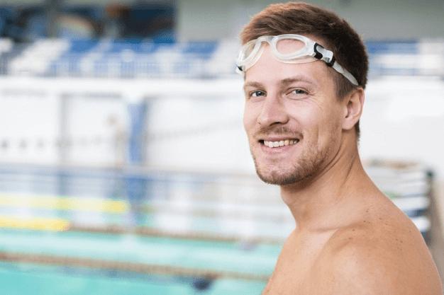 image of slim swimmer