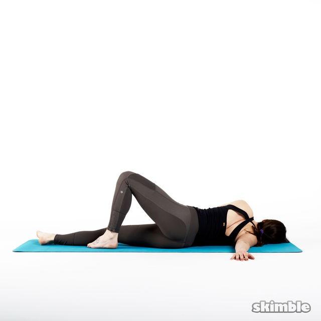 skimble workout trainer exercise yoga pec opener pose 2 iphone