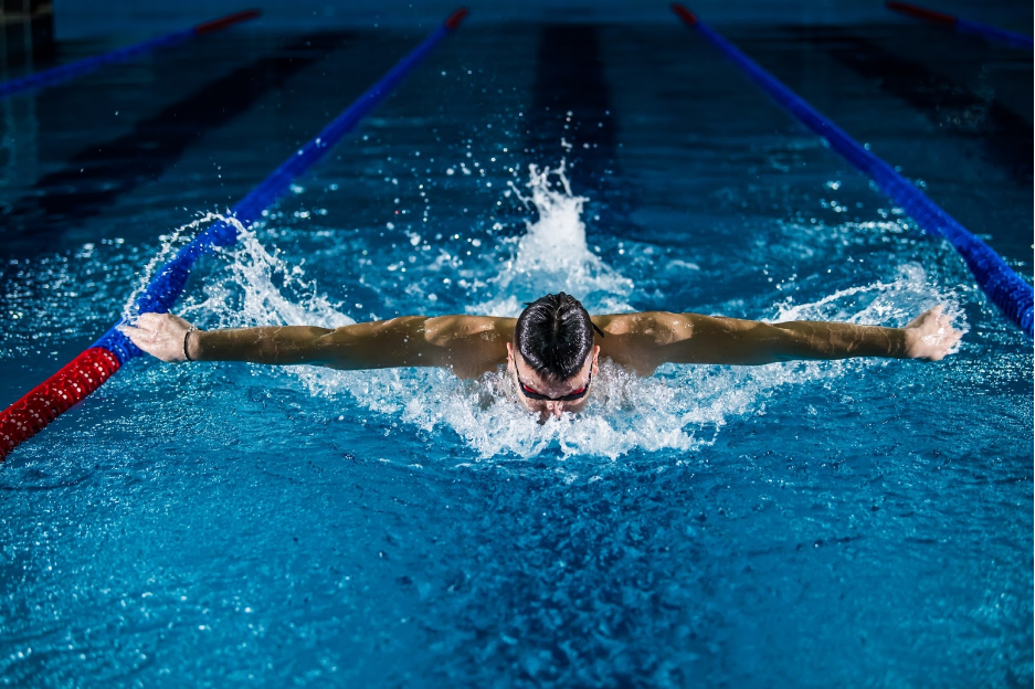 butterfly swimmer image